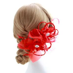 Rood was het thema op het trouwfeest